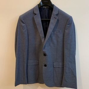 Express Slim Fit Photographer Suit Jacket - Gray